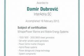 whisper power certificate 2012
