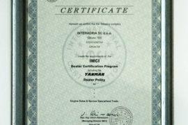 yanmar certifikat 2010